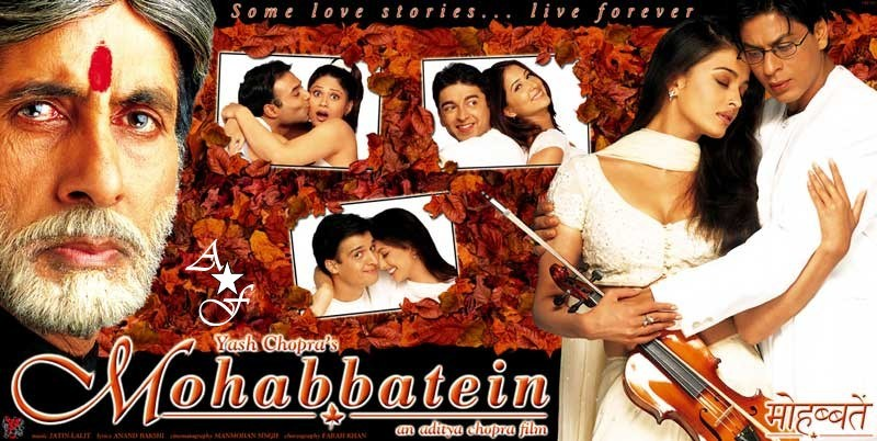 bollywood love story movies mohabbatein