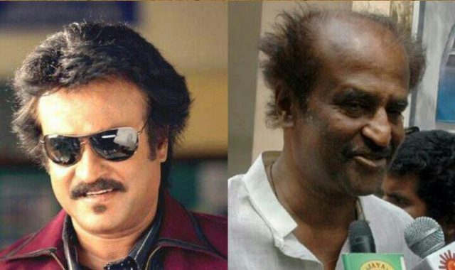 Bollywood Male Actors Without Makeup rajinikanth