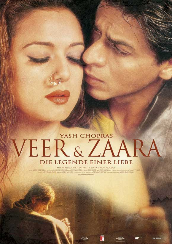 bollywood love story movies veer-zaara